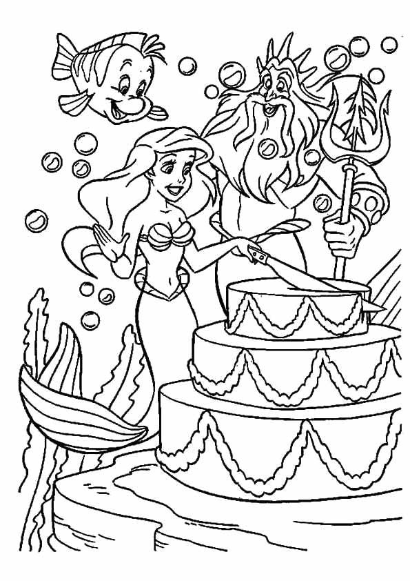 desenho da ariel para pintar 6