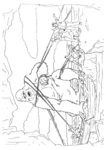 desenho do king kong para pintar 1