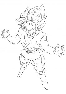 dragon ball para colorir