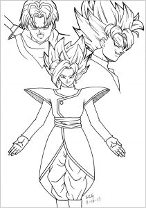 dragon ball para colorir 2