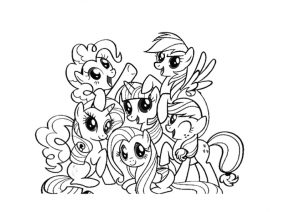 my little pony para colorir