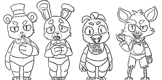 desenho de five nights at freddy´s para colorir e pintar