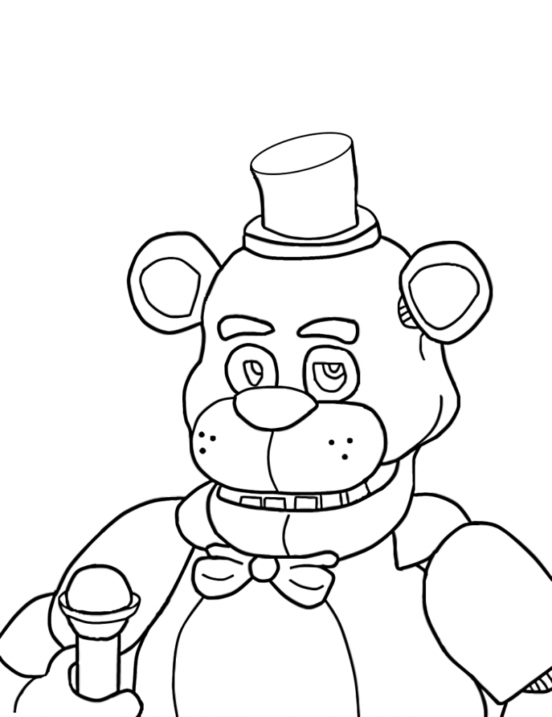 five nights at freddy's para pintar 10