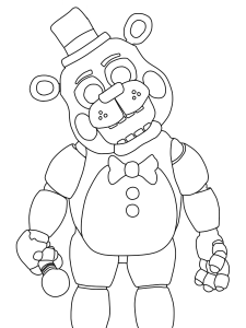 five nights at freddy's para pintar 11