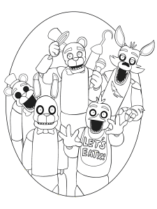 five nights at freddy's para pintar 13