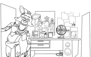 five nights at freddy's para pintar 15