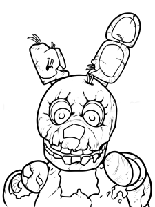 five nights at freddy's para pintar 3