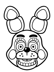five nights at freddy's para pintar 6