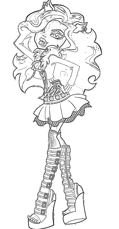 desenhos do monster high para colorir 14